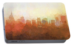 Portable Battery Charger featuring the digital art Orlando Florida Skyline by Marlene Watson