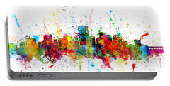 Portable Battery Charger featuring the digital art Richmond Virginia Skyline by Michael Tompsett