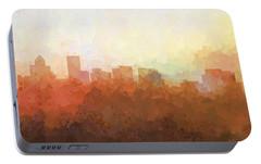 Portable Battery Charger featuring the digital art Salem Oregon Skyline by Marlene Watson