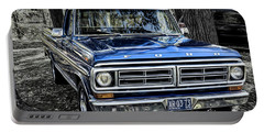 Portable Battery Charger featuring the photograph 73 Ford Pickup by Brad Allen Fine Art