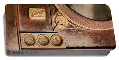 Portable Battery Charger featuring the photograph 78 Rpm And Accessories by Gary Slawsky