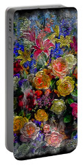 7a Abstract Floral Painting Digital Expressionism Portable Battery Charger