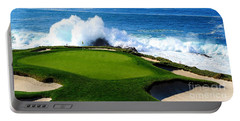 7th Hole - Pebble Beach  Portable Battery Charger