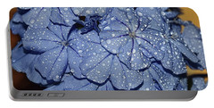 Blue Plumbago Portable Battery Charger by Elvira Ladocki