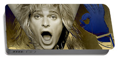 David Lee Roth Collection Portable Battery Charger by Marvin Blaine