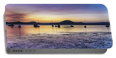 Dawn Waterscape Over The Bay With Boats Portable Battery Charger