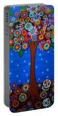 Day Of The Dead Portable Battery Charger by Pristine Cartera Turkus