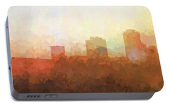 Portable Battery Charger featuring the digital art New Orleans Louisiana Skyline by Marlene Watson