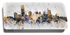 Portable Battery Charger featuring the digital art Oklahoma City Skyline by Michael Tompsett