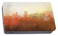 Portable Battery Charger featuring the digital art Portland Oregon Skyline by Marlene Watson
