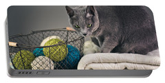 Russian Blue Portable Battery Charger