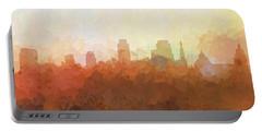 Portable Battery Charger featuring the digital art Sacramento California Skyline by Marlene Watson