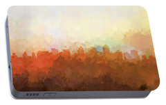 Portable Battery Charger featuring the digital art San Diego California Skyline by Marlene Watson