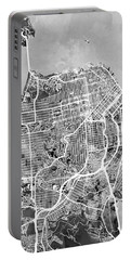 San Francisco City Street Map Portable Battery Charger