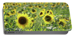 Sunflowers Mattituck New York Portable Battery Charger by Bob Savage