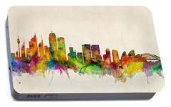 Sydney Australia Skyline Portable Battery Charger by Michael Tompsett