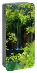 Waterfall In Plitvice National Park In Croatia Portable Battery Charger