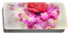 #8742 Soft Flowers Portable Battery Charger