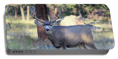 Portable Battery Charger featuring the photograph 8x8 Mule Deer by Shane Bechler