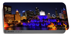 Portable Battery Charger featuring the photograph 911 Tribute At Buckingham Fountain, Chicago by Zawhaus Photography