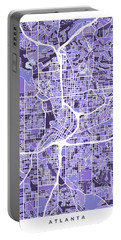 Atlanta Georgia City Map Portable Battery Charger
