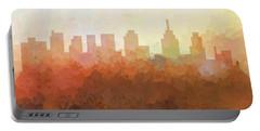 Portable Battery Charger featuring the digital art Philadelphia Pennsylvania Skyline by Marlene Watson