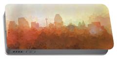 Portable Battery Charger featuring the digital art San Antonio Texas Skyline by Marlene Watson