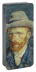 Self-portrait With Grey Felt Hat Portable Battery Charger