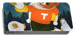 Teddy Bear Christmas Card Portable Battery Charger