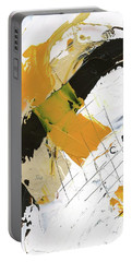 Portable Battery Charger featuring the painting Three Color Palette by Michal Mitak Mahgerefteh