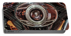 Portable Battery Charger featuring the photograph 96 Cubic Inches Softail by Randy Scherkenbach