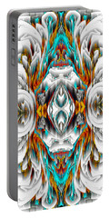 Portable Battery Charger featuring the digital art 992.042212mirror2ornategold-1-a by Kris Haas