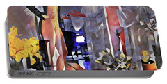 Portable Battery Charger featuring the digital art 9985-dm Surreal Watercolor Of Nude by Chris Maher