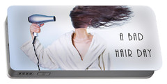 A Bad Hair Day Portable Battery Charger
