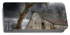 A Barn In The Storm 2 Portable Battery Charger by Karen McKenzie McAdoo