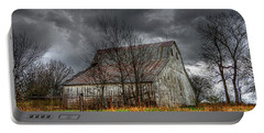 A Barn In The Storm 3 Portable Battery Charger by Karen McKenzie McAdoo