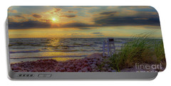 A Beachy Sunset Portable Battery Charger
