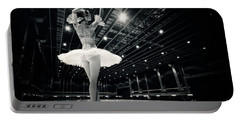 Portable Battery Charger featuring the photograph A Beautiful Ballerina Dancing In Studio by Dimitar Hristov