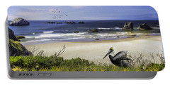 Portable Battery Charger featuring the photograph A Beautiful Day At Face Rock At Coastal Oregon by Diane Schuster