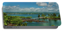 A Beautiful Day Over Hilo Bay Portable Battery Charger