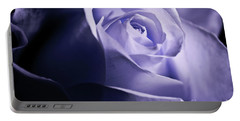 Portable Battery Charger featuring the photograph A Beautiful Purple Rose by Micah May