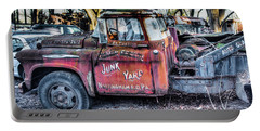 A Beautiful Rusty Old Tow Truck Portable Battery Charger