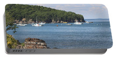 A Beautiful View Of Bar Harbor Portable Battery Charger by Living Color Photography Lorraine Lynch