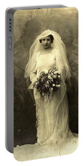 A Beautiful Vintage Photo Of Coloured Colored Lady In Her Wedding Dress Portable Battery Charger