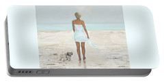 Portable Battery Charger featuring the painting A Beautiful Walk by Leslie Allen