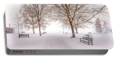 Portable Battery Charger featuring the photograph A Beautiful Winter's Morning  by John Poon