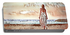 Portable Battery Charger featuring the digital art A Beautiful World by Pennie McCracken