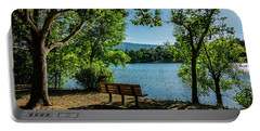 A Bench Overlooking Vasona Lake Portable Battery Charger