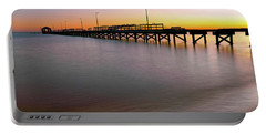 Portable Battery Charger featuring the photograph A Biloxi Pier Sunset - Mississippi - Gulf Coast by Jason Politte