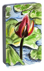 Portable Battery Charger featuring the painting A Birth Of A Life by Harsh Malik